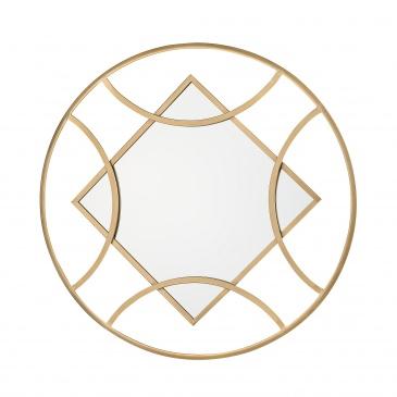 Lustro ścienne 65 x 82 cm złote TANNA