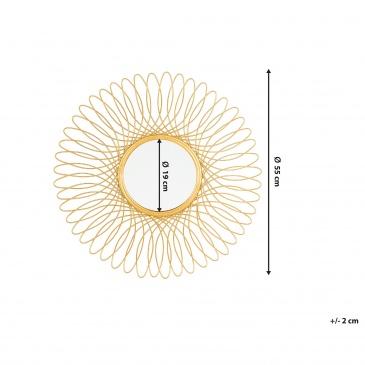 Lustro ścienne złote ø55 cm CAMBIA