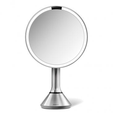 Lustro sensorowe z kontrolą natężenia światła 20 cm Simplehuman srebrne