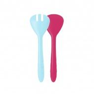 Łyżki do sałaty 27 cm Zak! Designs różowo-niebieskie