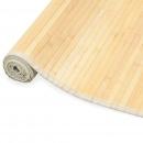 Mata bambusowa na podłogę 100 x 160 cm naturalna