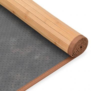 Mata Bambusowa Na Podłogę 160 X 230 Cm Brązowa