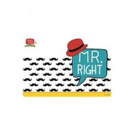 Mata stołowa Mr Right 45x30cm Nuova R2S Have Fun