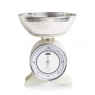 Mechaniczna waga kuchenna z miską 24,5x28,5 cm ADE beżowa