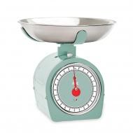 mechaniczna waga kuchenna z miską, do 5 kg, 0,8 l, 20,5 x 20,5 x 20 cm, miętowa