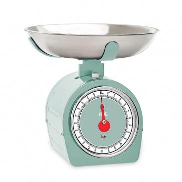 Mechaniczna waga kuchenna z miską, do 5 kg, miętowa