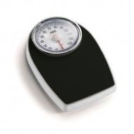 mechaniczna waga łazienkowa z powierzchnią antypoślizgową, do 136 kg, 28,5 x 43 cm, czarna