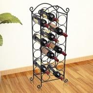 Metalowy stojak na 21 butelek wina