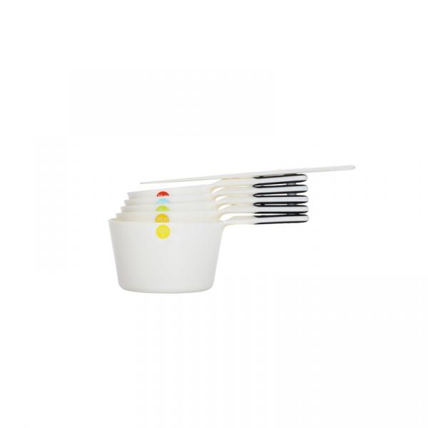 Miarki-kubki Snaps 6 elementów OXO Good Grips białe 11121602MLNYK
