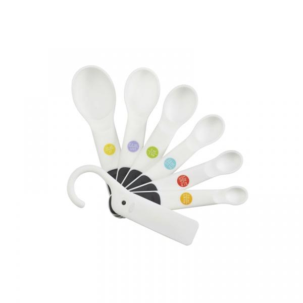 Miarki-łyżeczki Snaps 7 elementów OXO Good Grips białe 11121802MLNYK
