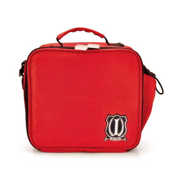 Mini Lunch Box Iris School czerwony 9222-T