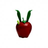 Mini młynek do pieprzu z magnesem 11 cm Chef'n Garden Variety czerwone jabłuszko