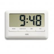 Minutnik elektroniczny 10x7x1cm ADE biały