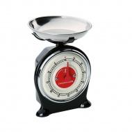 minutnik w kształcie wagi, 7 x 7 x 10 cm, czarny