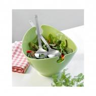 Misa na sałakę z łyżkami 26x23x17cm Steel-Function ceramiczna zielona