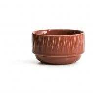 miseczka, czerwona, ceramika, śred. 12 x 7 cm