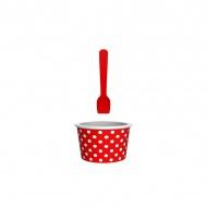 Miseczka na lody 8cm ZAK!DESIGNS czerwono-biała