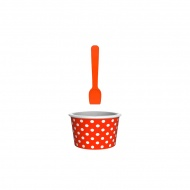 Miseczka na lody 8cm ZAK!DESIGNS pomarańczowo-biała