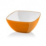Miska kwadratowa 14 cm Vialli Design Livio pomarańczowa