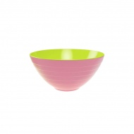 Miska na sałatki 28 cm Zak! Designs duża zielono-różowa