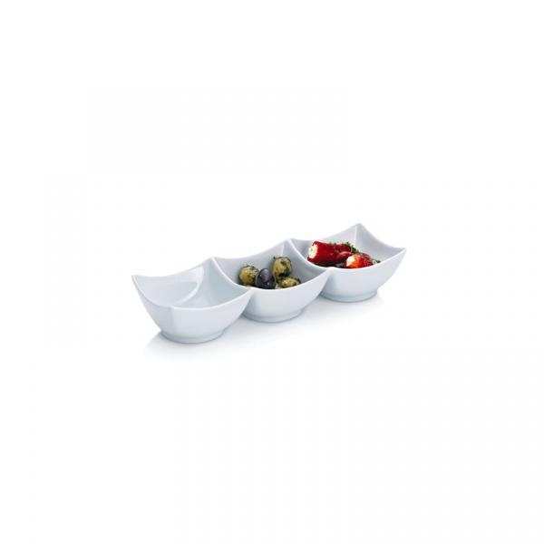 Miska potrójna Kela Petit biała KE-10752