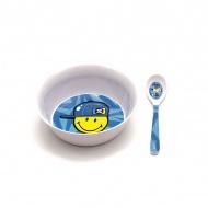 Miska z łyżeczką dla chłopczyka Smiley Kid Zak! designs