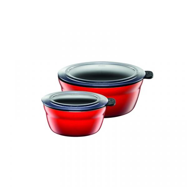 Misy kuchenne 2 szt. Silit Fresh Bowls Energy Red czerwone 21.3329.1602