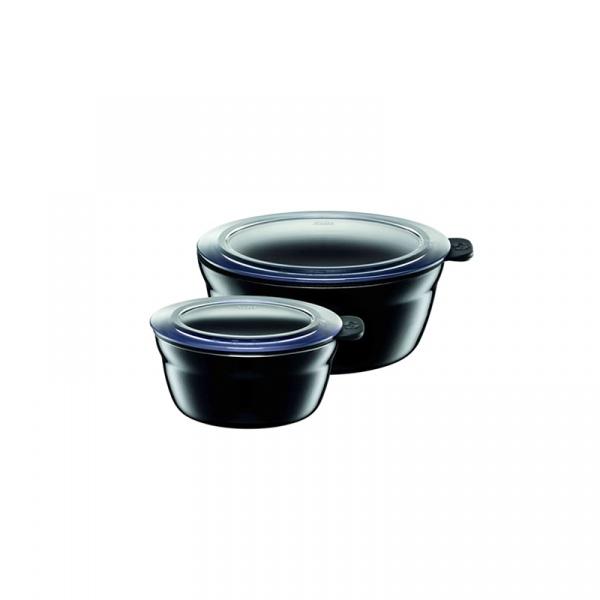 Misy kuchenne 2 szt. Silit Fresh Bowls Piano czarne 21.3329.1589