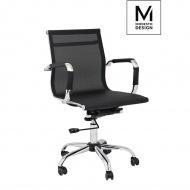 MODESTO fotel biurowy ERGO SIATKA czarny - tkanina, ekoskóra, metal