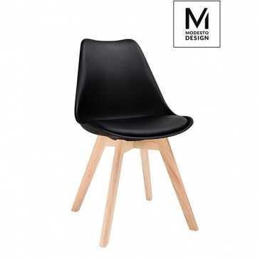 MODESTO krzesło do kuchni NORDIC czarne