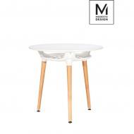 MODESTO stół HIDE FI80 biały - blat MDF, podstawa metalowa
