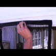 Moskitiera biała na drzwi z magnesami 210x100cm mag-135366-b