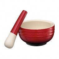 moździerz ceramiczny, czerwony, śred.12cm