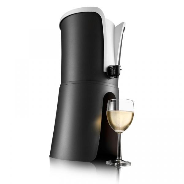 Nalewak do wina + schładzacz Vacu Vin WineTender czarny VV-3646360