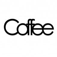 Napis 3D na ścianę dekoracyjny DekoSign COFFEE czarny
