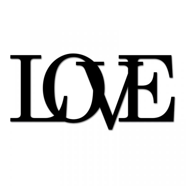 Napis 3D na ścianę dekoracyjny DekoSign LOVE czarny LOVE1-1