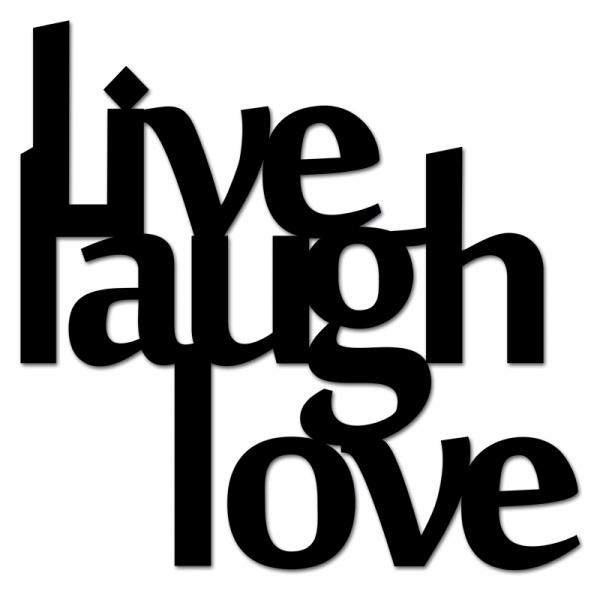 Napis 3D na ścianę DekoSign LIVE LAUGH LOVE czarny LLL1-1