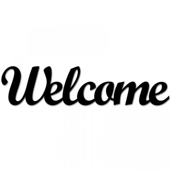 Napis 3D na ścianę DekoSign WELCOME czarny WELCOME1-1