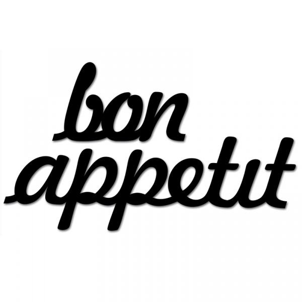 Napis na ścianę DekoSign BON APPETIT czarny BONAPPETIT1-1
