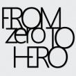 Napis na ścianę DekoSign FROM ZERO TO HERO czarny FZTH1-1