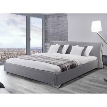 Nowoczesne łóżko Tapicerowane Ze Stelażem 180x200 Cm Eusebio Szare