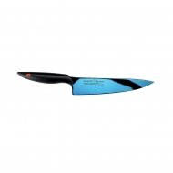 Nóż szefa kuchni kuty Titanium dł. 20 cm, niebiesk