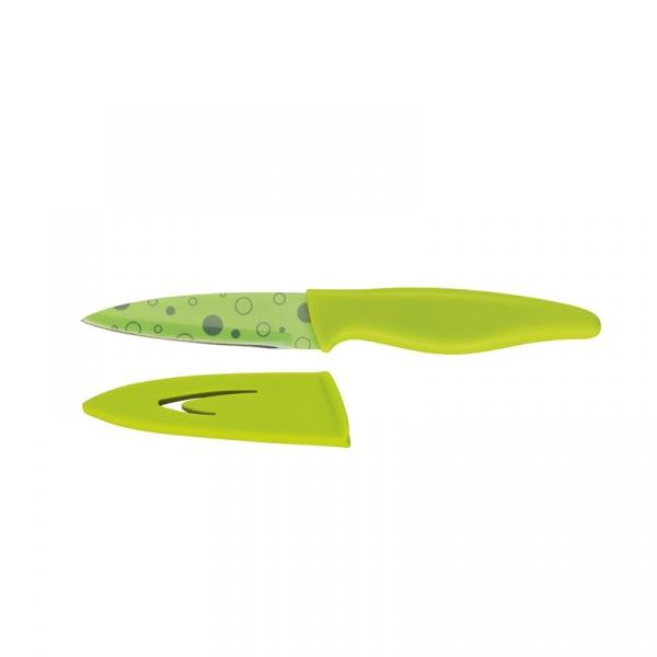 Nóż z osłonką 9 cm Zassenhaus Bubble zielony ZS-077032
