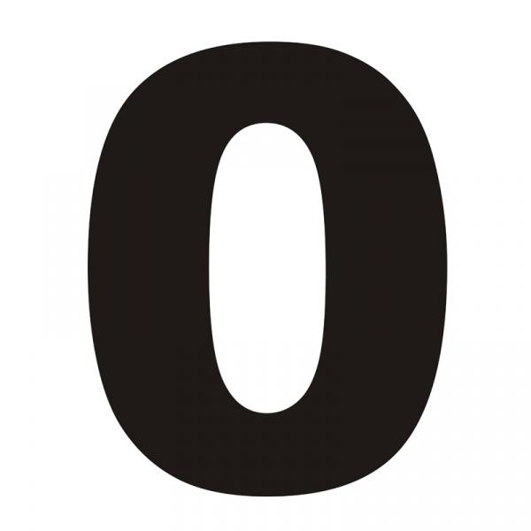 Numer na dom DekoSign 0 czarny ZERO1-1