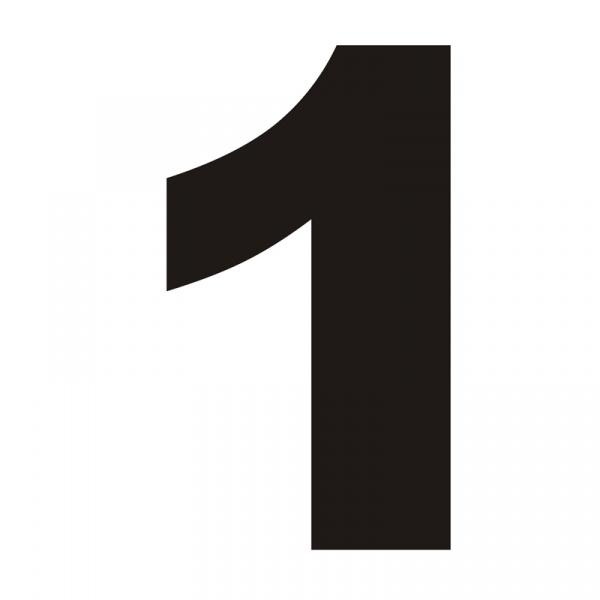 Numer na dom DekoSign 1 czarny JEDYNKA1-1