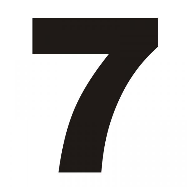Numer na dom DekoSign 7 czarny SIODEMKA1-1