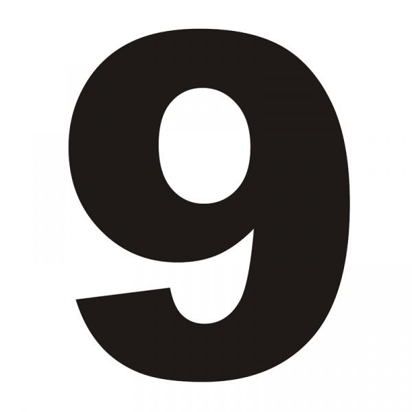 Numer na dom DekoSign 9 czarny DZIEWIATKA1-1
