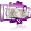 Obraz - Abstrakcja z fioletem A0-N1137
