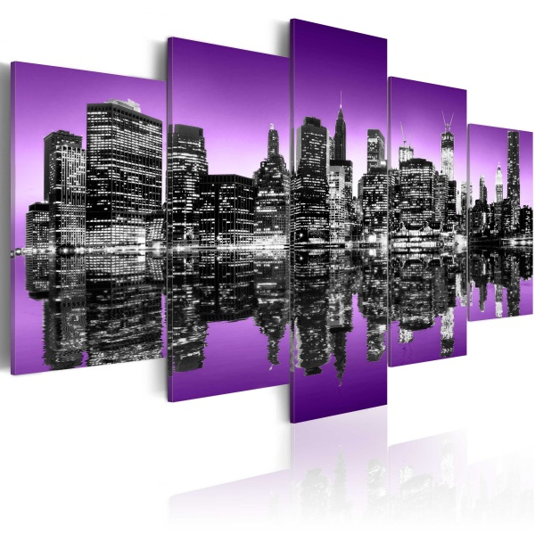 Obraz - Awangardowy Nowy Jork - 5 części (100x50 cm) A0-N1831