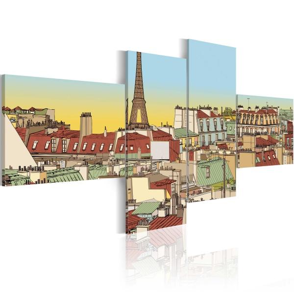 Obraz - Bajkowy Paryż (100x45 cm) A0-N1777